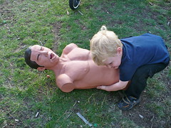 Choking training dummy