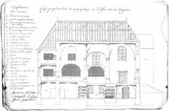 Plan de la chapelle du couvent des Bernardines à Orgelet (Jura)