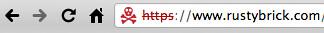 Google Chrome Red Cross Skull Security Warning