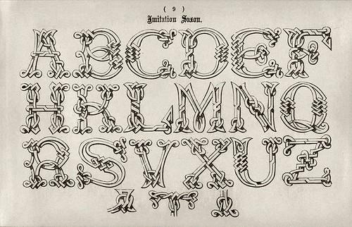 004-Alfabeto imitacion Sajon-Examples of Modern Alphabets… 1913- Freeman Delamotte