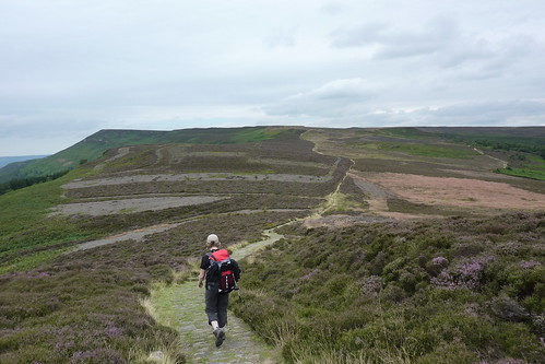 Heading up Carlton Moor