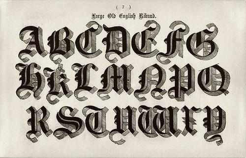 001-Alfabeto Antiguo Ingles Riband-Examples of Modern Alphabets… 1913- Freeman Delamotte