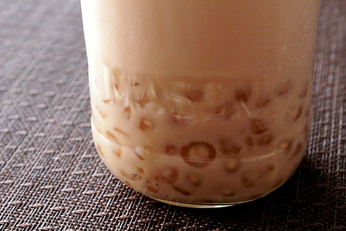 tapioca pearls in bubble tea