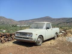 Old grey pickup (ThomasKohler) Tags: auto mountains berg car island grey gray kreta pickup insel greece highland corona crete toyota griechenland gebirge kfz ägäis mittelmeerinsel