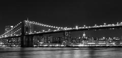 Brooklyn Bridge Black and White (Shane Woodall) Tags: blackandwhite newyork brooklyn lights 911 september brooklynbridge 2010 brooklynbridgepark canon5dmarkii septenber11th