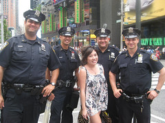 Anna with NYC Finest in Times Square