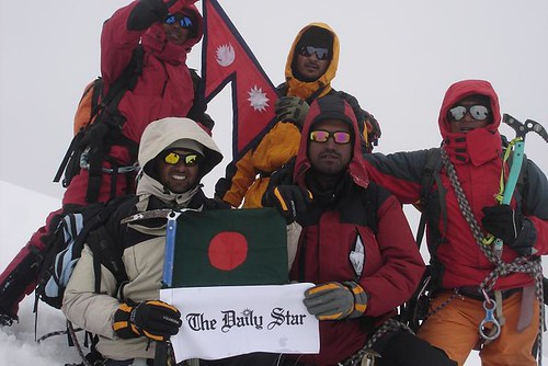 29_NACB team of 3 members and 3 sherpas at Annapurna 4 summit