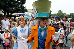 Alice and the Mad Hatter head back down the rabbit hole