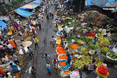 Au marché aux fleurs de Calcutta (hubertguyon) Tags: fleurs aux calcutta inde bengaleoccidental earthasia occidentalcalcuttaindemarchž fleursmarché marchindiawestbengalflowermarketmarchéfleurspluierainbouemudbengale