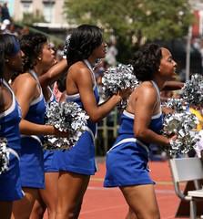 Hampton University Blue Thunder Cheerleaders (Kevin Coles) Tags: sports dc washington football cheerleaders pirates wdc bluethunder cheer hampton ncaa hu 2010 3121 hbcu meac therealhu blackcollegesports howardvsh