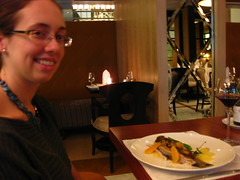 Amy with a Grilled Barramundi