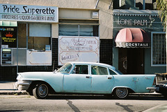 /pride (KayVee.INC) Tags: sanfrancisco classic film car 35mm vintage transport 200iso cocktails parkedcar 22ndstreet lonepalm badshape pridesuprette