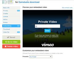 Vimeo embed met wachtwoord