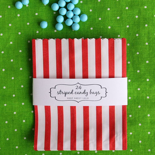 FF_red striped candy or treat bag_sweet lulu