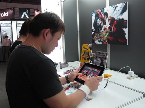 東京電玩展_iPad遊戲試玩(陳怡如攝)