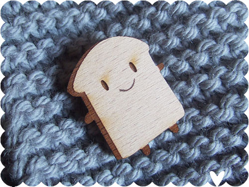 Bread Slice Brooch