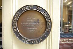 Photo of Charles Webb bronze plaque