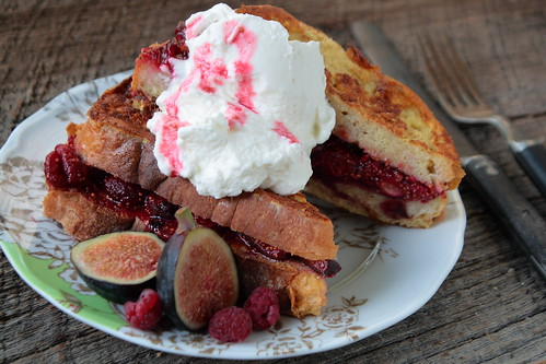 Stuffed French Toast with Whipped Cream
