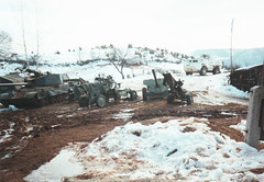 Serb Weapon Collection Site Sarajevo Bosnia 1994 (Cold War Warrior) Tags: tank bosnia artillery apc aa afv