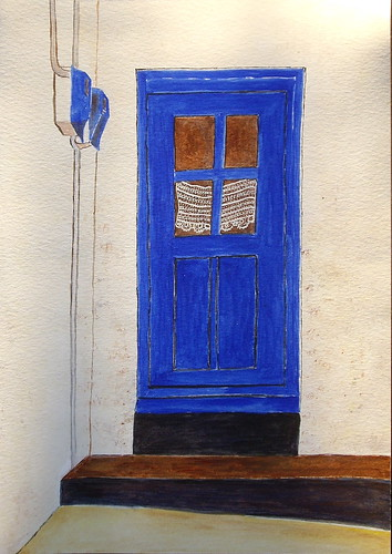 A door on Leros, Greece