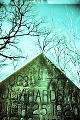 333 777 (s myers) Tags: cemetery grave graveyard 35mm austin xpro texas julia kodak crossprocess tx headstone 100 333 elitechrome 777 1920 bbf blackbirdfly hardeman