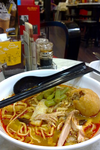 Curry noodles at Old Town cafe, Melaka Malaysia