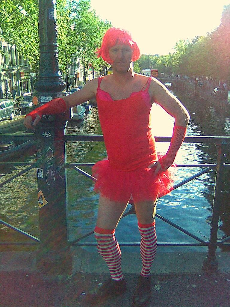 Transvestite red light area