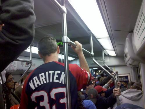 Trainful of drunken r-droppahs