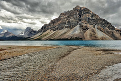 A Storm Brews at Bow Lake (Jeff Clow) Tags: lake storm mountains albertacanada banffnationalpark bowlake canadianrockies glaciallake