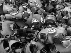Gas Masks (KrvZ) Tags: white black mobile phone ericsson sony finish gamewinner thechallengefactory c905