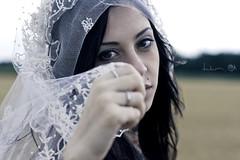WhiteWidow (Dwam) Tags: portrait face bride italian veil gogo brunette sg widow voile zivity dwam