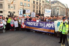 protest the pope (brian.mickey) Tags: london freedomofspeech londonprotest protestthepopestreetdemo