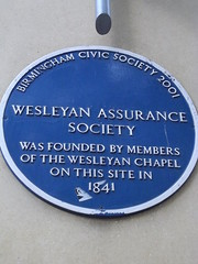 Photo of Wesleyan Assurance Society blue plaque