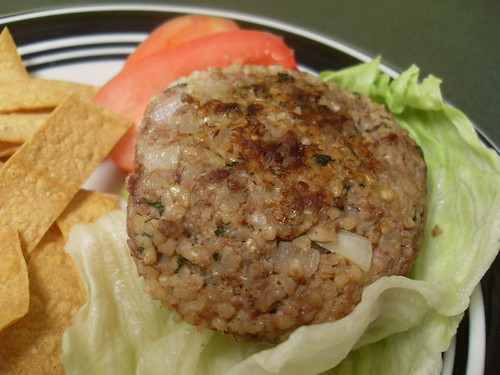 Beef and Bulgur Burgers