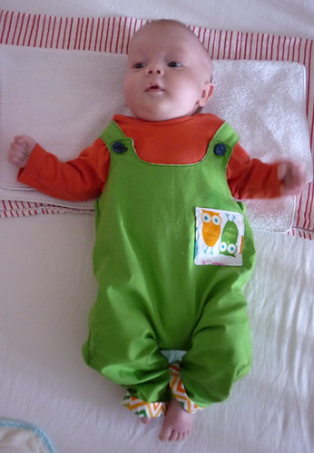 Thomas in his Owl Dungarees