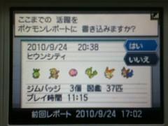ポケモンBW_レポート20100924