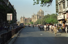 The old Victoria Terminus, Mumbai (Yvon from Ottawa) Tags: india unesco bombay mumbai worldheritage victoriaterminus chhatrapati shivaji terminus