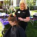 Sarah Erickson is treated to some pampering at FallFest