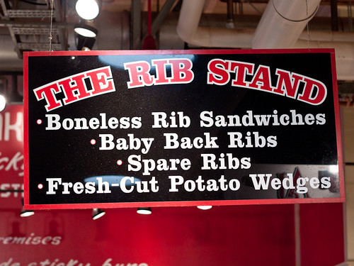 The Rib Stand's sign