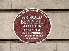 Photo of Arnold Bennett brown plaque