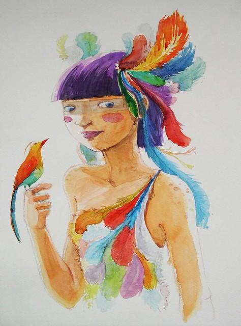 Girl bird
