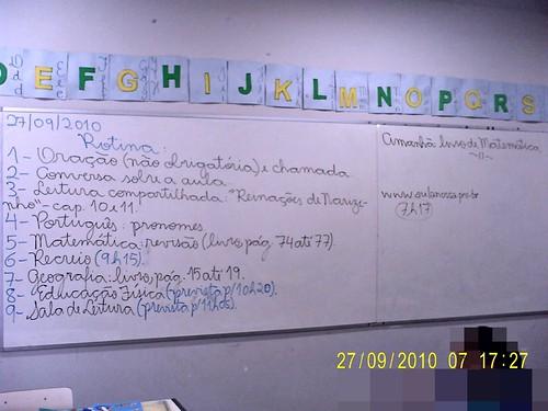 Rotina Prevista - 27/09/2010