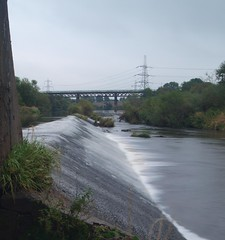 weir and old railway viaduct carmyle (themuldoons1) Tags: clyde lanarkshire cambuslang