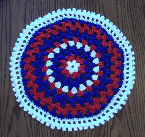 16-inch Red/White/Blue Mandala