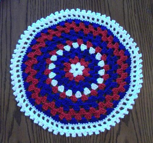 16-inch Red/White/Blue Mandala
