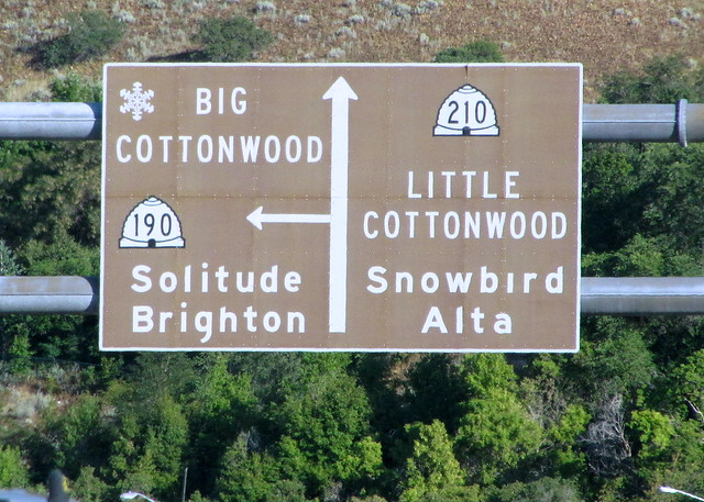 Cottonwood Canyons sign