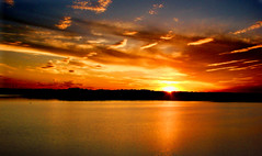 "can't keep my mind off of you (bdaryle) Tags: sunset sky reflection nature water clouds golden glow sony halo canttakemyeyesoffofyou ""flickraward"" brandondaryle bdaryle imagesbybrandon mothernaturesgreenearth"