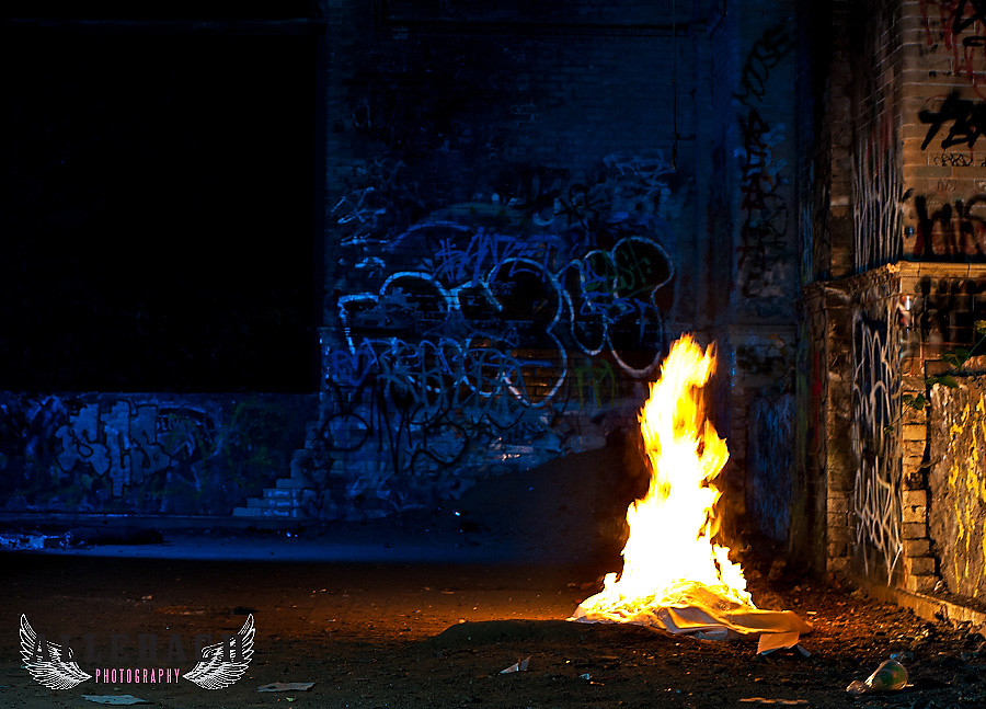 Trash the Dress with Fire