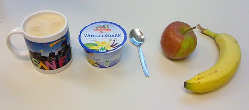 Vanillequark, Banane & Apfel