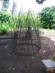 A maize granary in the making